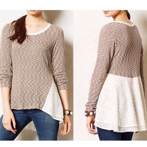 { Anthropologie } Clu + Willoughby Top Sz XS